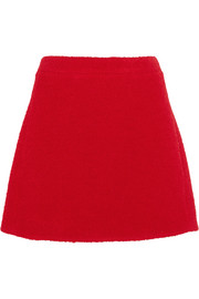 Teddy  wool-blend boucl� mini skirt