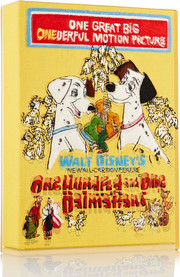 101 Dalmatians embroidered cotton-canvas clutch