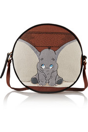Dumbo Ears Dizzie embroidered cotton-canvas shoulder bag