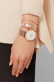 CM rose gold-plated watch