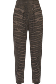 Raquel Allegra Tie-dyed cotton-blend jersey pants