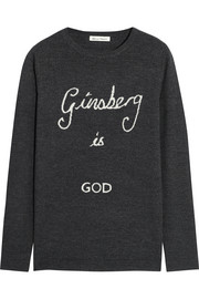 Bella Freud Ginsberg Is God merino wool sweater