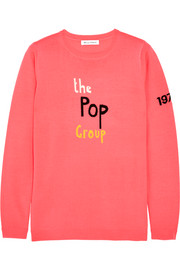 Bella Freud The Pop Group intarsia merino wool sweater