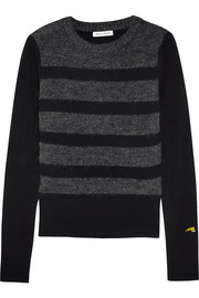 Bella Freud Glam Rock striped wool-bend sweater