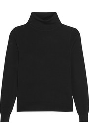 Bordeaux stretch-knit turtleneck sweater