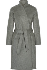 Chelsea belted wool-blend felt coat