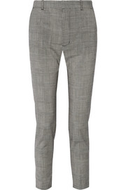 Le Chesne checked stretch wool-blend skinny pants