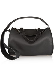 Drum textured-leather shoulder bag