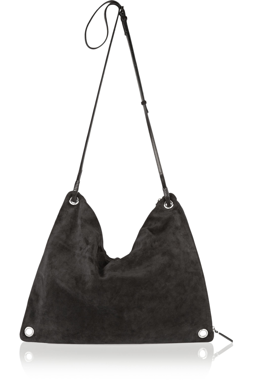 The Row Origami suede shoulder bag