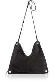 Origami suede shoulder bag