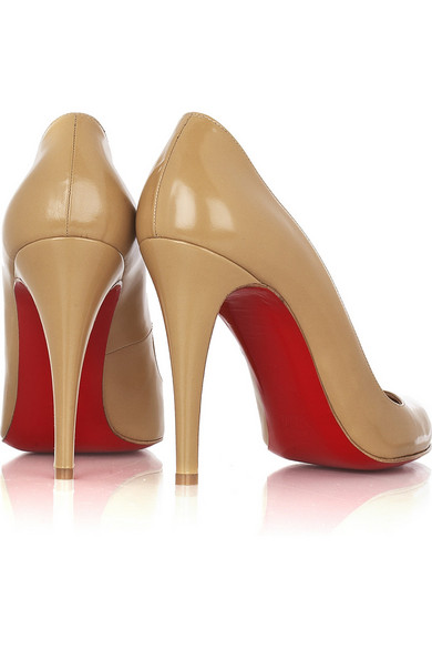 christian louboutin fakes - Christian Louboutin | D��collet�� 100 leather pumps | NET-A-PORTER.COM