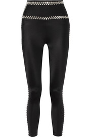 Studded high-rise leggings