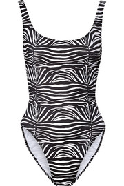 Norma Kamali William printed swimsuit