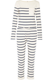 Breton striped cotton-jersey jumpsuit