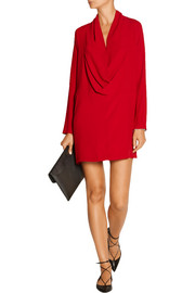 Ares draped crepe mini dress