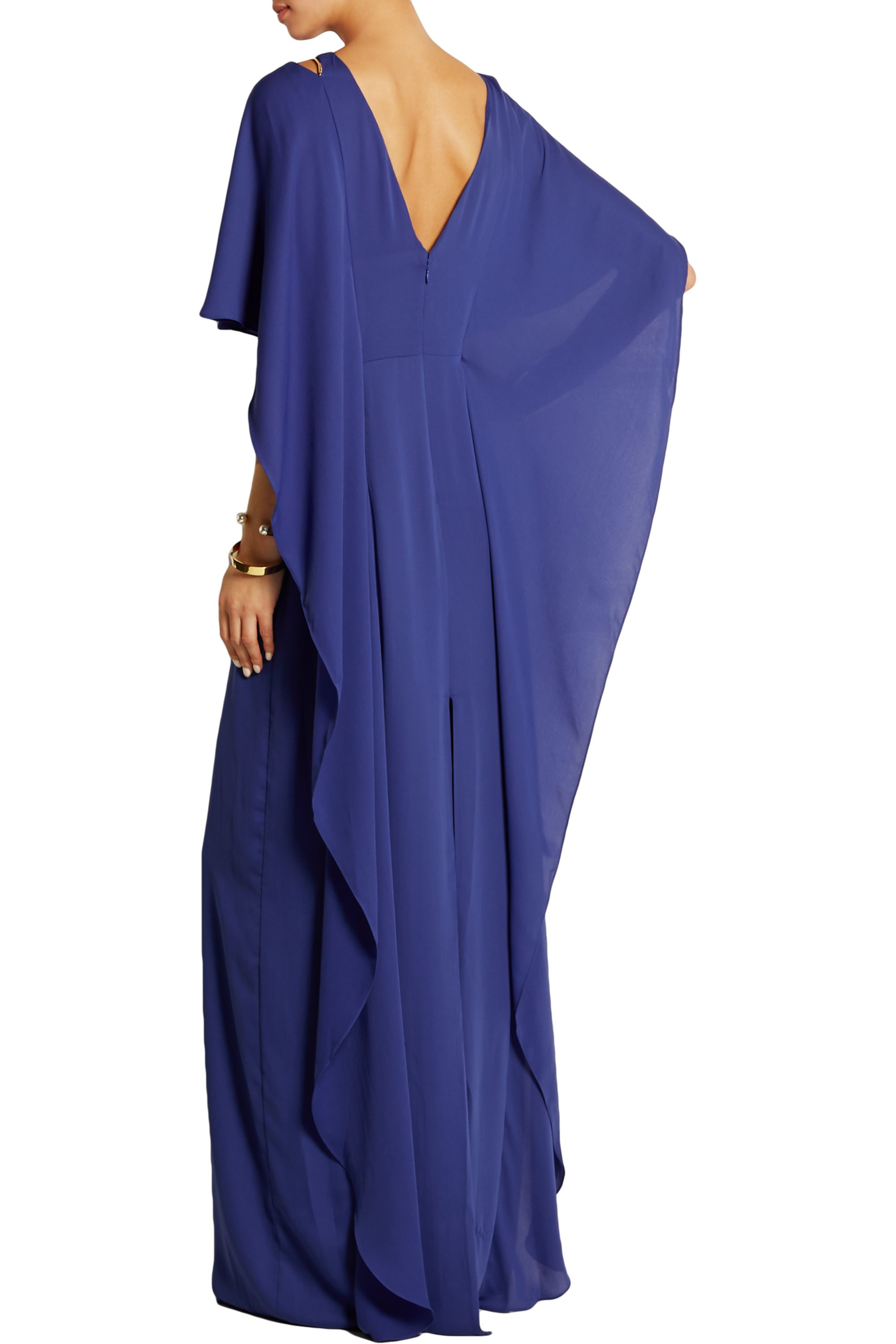 Halston Draped georgette gown