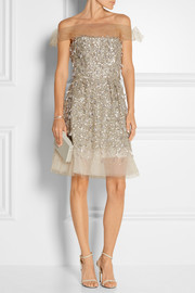 Embellished tulle dress