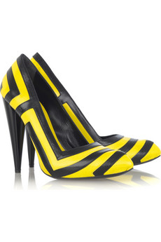 Alexander McQueen Geometric leather pumps from net-a-porter.com