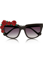 Rose Rouge D-frame acetate sunglasses