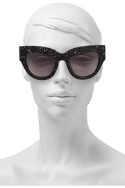 Lush Lily cat-eye textured-acetate sunglasses