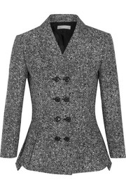 Wool-tweed peplum jacket