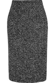 Wool-blend boucl� pencil skirt
