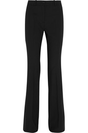 Stretch-wool crepe flared pants