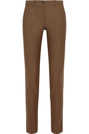 Samantha houndstooth stretch-wool slim-leg pants