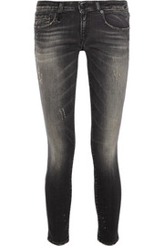 Kate distressed low-rise skinny jeans