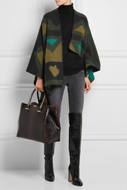 London wool and cashmere-blend cape