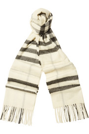London checked cashmere scarf