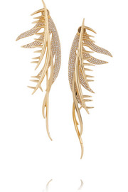 Eddie Borgo Gold-plated cubic zirconia earring