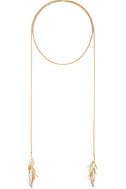 Eddie Borgo Prickle gold-plated cubic zirconia necklace