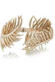 Gold-plated cubic zirconia cuff