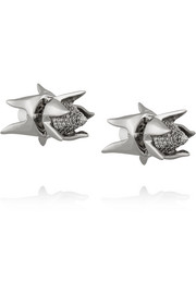 Eddie Borgo Silver-plated cubic zirconia earrings