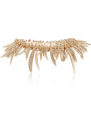 Prickle gold-plated cubic zirconia bracelet