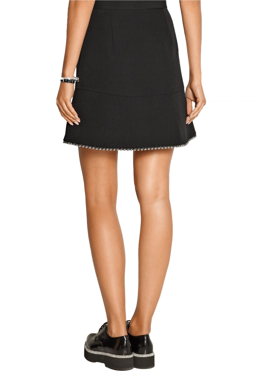 Alexander Wang Embellished wool-gabardine mini skirt