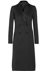 Robeska silk-trimmed wool-blend coat