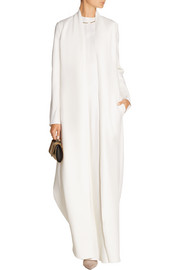 Sista wool and silk-blend gown