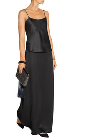 Pacel stretch-satin jersey maxi skirt