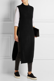 T by Alexander Wang Dickie split-side wool and cashmere-blend tunic