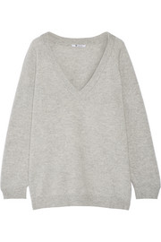 Oversized wool and cashmere-blend sweater