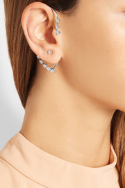 Aura 18-karat white gold diamond ear cuff