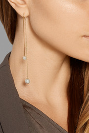 Fishing For Compliments 18-karat gold pearl earring