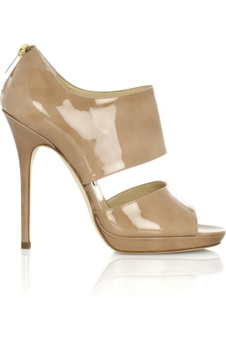 Glamorosas sandalias con tacón alto y charol: Jimmy Choo