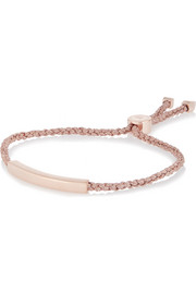 Linear rose gold-plated bracelet