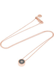 Evil Eye rose gold-plated diamond necklace