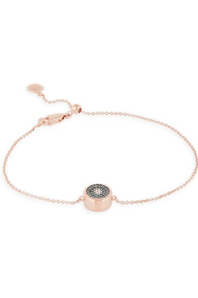 Evil Eye rose gold-plated diamond bracelet