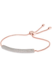 Esencia rose gold-plated diamond bracelet