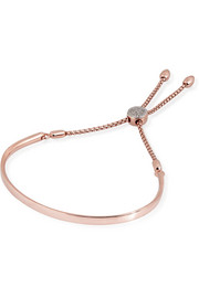 Fiji rose gold-plated diamond bracelet